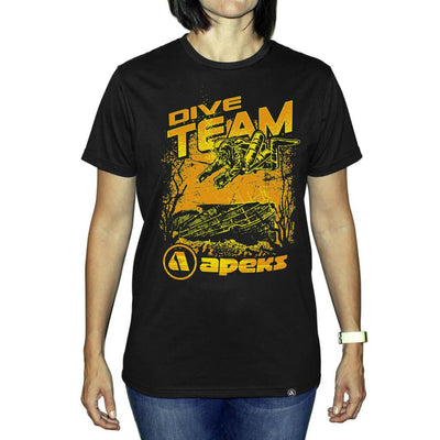 Apeks Dive Team T-Shirt - Black - Mike's Dive Store