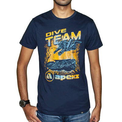 Apeks Dive Team T-Shirt - Navy - Mike's Dive Store