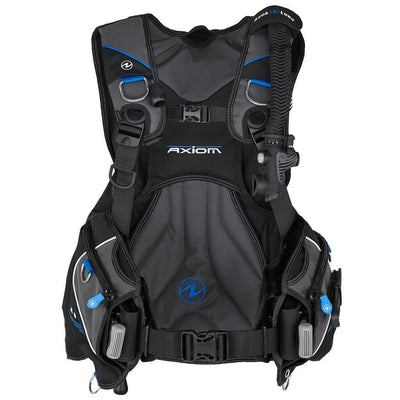 Aqualung Axiom BCD - Blue / Front - Mike's Dive Store