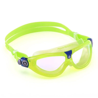 Aqua Sphere Seal 2 Kids Goggles - Clear Lens / Lime & Blue Frame - Mike's Dive Store