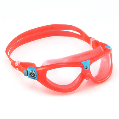 Aqua Sphere Seal 2 Kids Goggles - Clear Lens / Red & Aqua Frame - Mike's Dive Store
