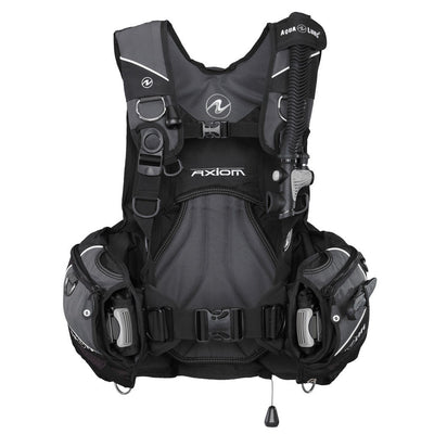 Aqualung Axiom BCD - Black / Front - Mike's Dive Store
