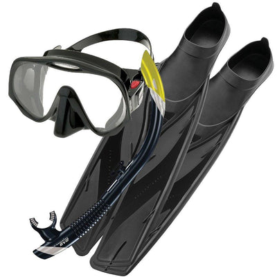 Atomic Frameless 2 Mask, Snorkel and Fins Set - Mike's Dive Store