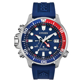 Citizen Eco-Drive Promaster Aqualand Blue Red Dive Watch