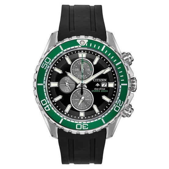 Citizen Eco-Drive Promaster Diver Green Black Watch - Mike's Dive Store