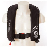 Typhoon Inflatable  Cyclone 150 Lifejacket AutomaticBlack - Mike's Dive Store - 2