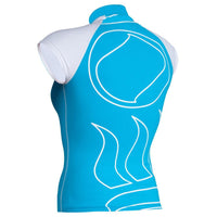 Fourth Element Hydroskin Rash Vest Capped Sleeved - Women's Aqua/White - Back