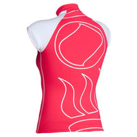 Fourth Element Hydroskin Rash Vest Capped Sleeved - Women's Coral/White - Back