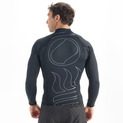 Fourth Element Hydroskin Rash Vest Long Sleeved - Men's Black - Back - Mike's Dive Store