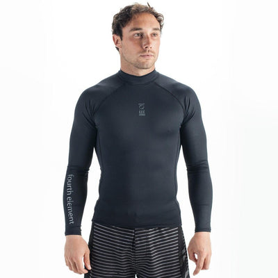 Fourth Element Hydroskin Rash Vest Long Sleeved - Men's Black - Mike's Dive Store