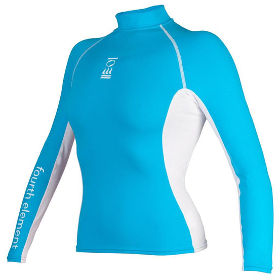Fourth Element Hydroskin Rash Vest Long Sleeved - Women's Aqua/White