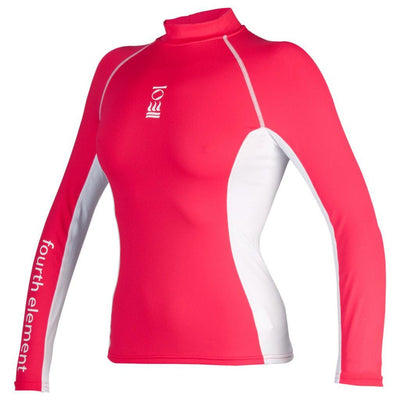 Fourth Element Hydroskin Rash Vest Long Sleeved - Women's Coral/White