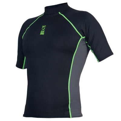 Fourth Element Hydroskin Rash Vest Short Sleeved - Men's Black/Green