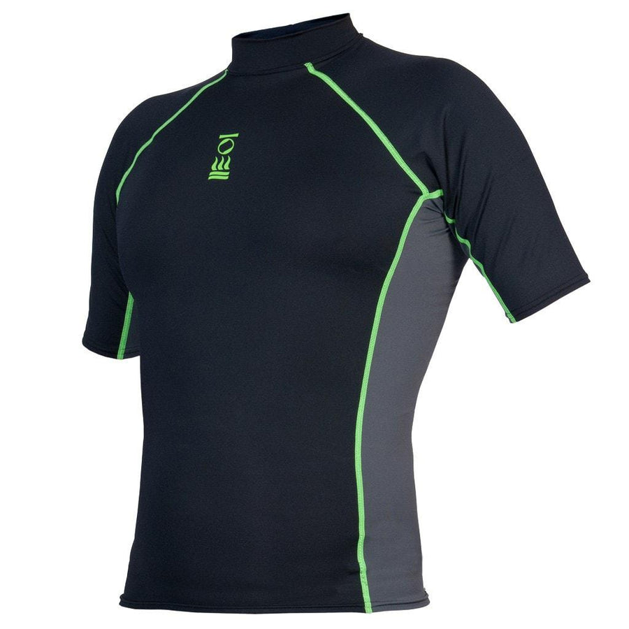 Fourth Element Hydroskin Rash Vest Short Sleeved - Men s Black Green fbebc968f68b8