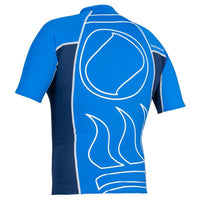 Fourth Element Hydroskin Rash Vest Short Sleeved - Back - Men's Royal/Navy