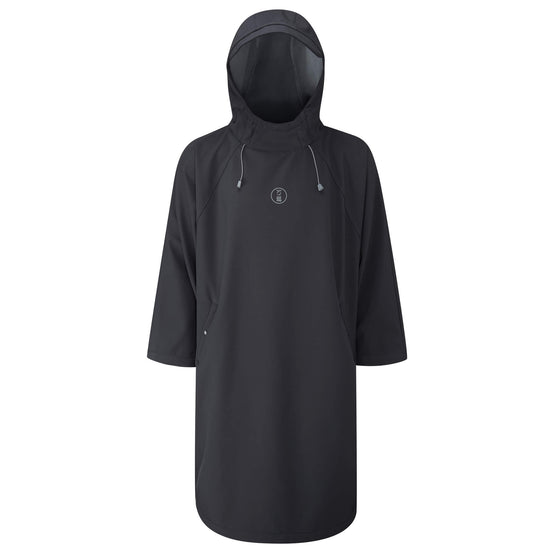 Fourth Element Storm Poncho - Black | Front | Mike's Dive Store