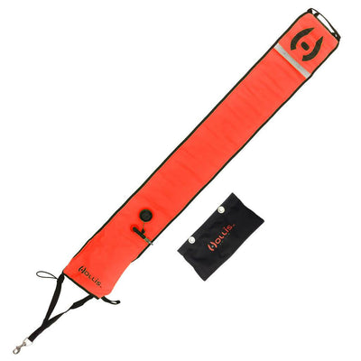 Hollis Surface Marker Buoy with Sling Pouch - Orange - Mike's Dive Store