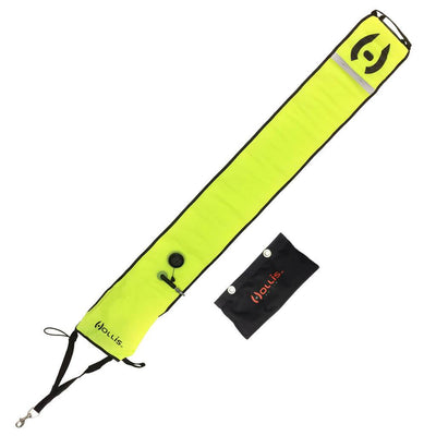Hollis Surface Marker Buoy with Sling Pouch - Yellow - Mike's Dive Store