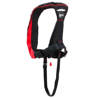 KRU Sport Lifejacket - Red / Carbon Back - Mike's Dive Store