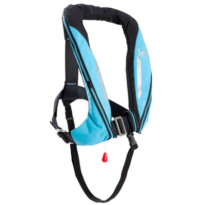 KRU Sport Lifejacket - Sky Blue / Carbon - Mike's Dive Store