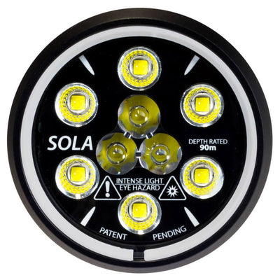 Light and Motion Sola Video 2000 SF Light - Front - Mike's Dive Store