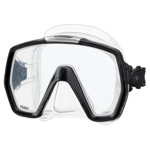 Tusa Freedom HD Dive Mask - Black - Mike's Dive Store
