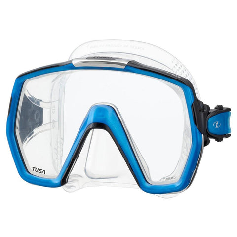 Tusa Freedom HD Dive Mask - Fishtail Blue - Mike's Dive Store