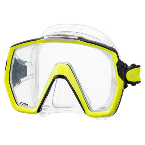 Tusa Freedom HD Dive Mask - Fluorescent Yellow - Mike's Dive Store