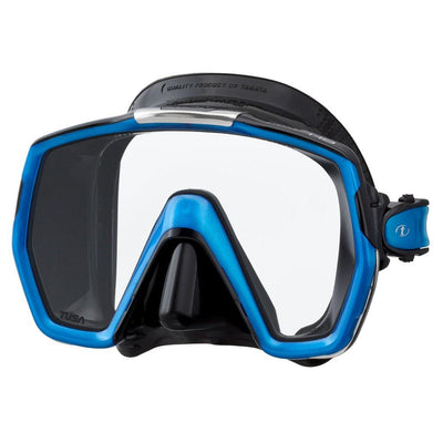 Tusa Freedom HD Dive Mask - Black / Fishtail Blue - Mike's Dive Store