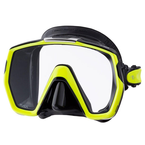 Tusa Freedom HD Dive Mask - Black / Yellow - Mike's Dive Store