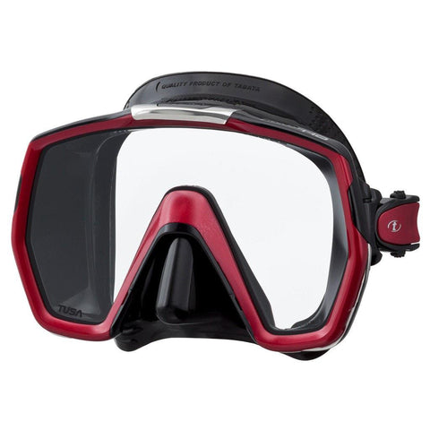 Tusa Freedom HD Dive Mask - Black / Metallic Red - Mike's Dive Store