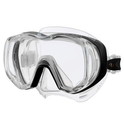 Tusa Freedom Tri-Quest Dive Mask - Black - Mike's Dive Store