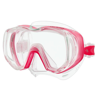 Tusa Freedom Tri-Quest Dive Mask - Bright Pink - Mike's Dive Store