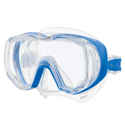 Tusa Freedom Tri-Quest Dive Mask - Fishtail Blue - Mike's Dive Store