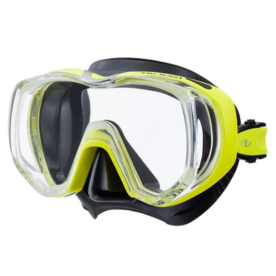 Tusa Freedom Tri-Quest Dive Mask - Black / Flash Yellow - Mike's Dive Store