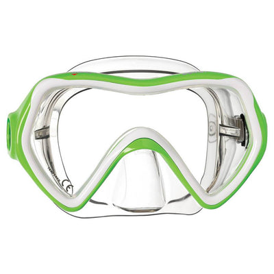 Mares Comet Kids Mask - Lime / Clear - Mike's Dive Store