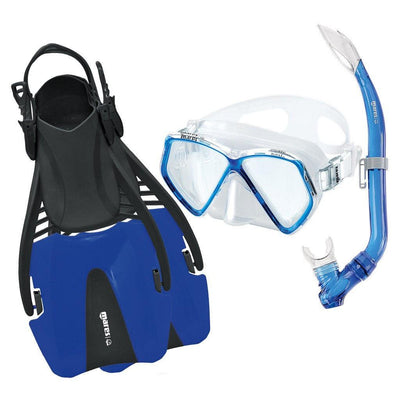 Mares Coral Pirate Youth Mask, Snorkel and Fin Set - Blue - Mike's Dive Store