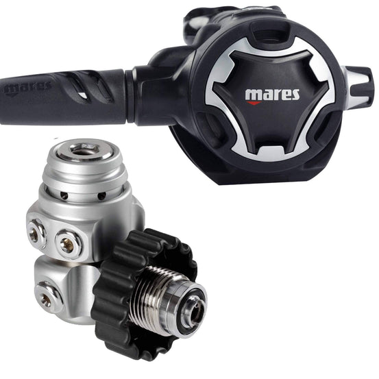 Mares Dual ADJ62X Regulator- Black DIN - Mike's Dive Store Mike's Dive Store