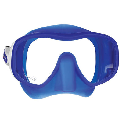 Mares Juno Mask - White / Blue - Mike's Dive Store