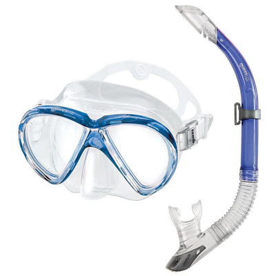 Mares Marea Mask and Snorkel Set - Blue - Mike's Dive Store