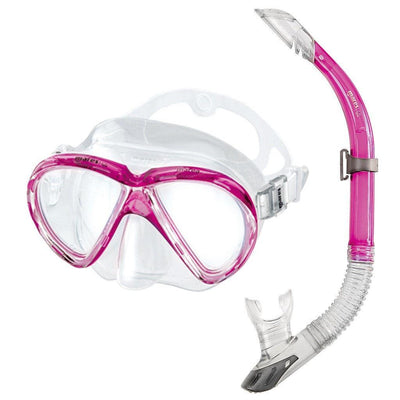 Mares Marea Mask and Snorkel Set - Pink - Mike's Dive Store