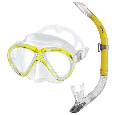 Mares Marea Mask and Snorkel Set - Yellow - Mike's Dive Store