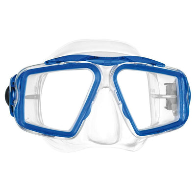 Mares Opera Dive Mask - Clear / Reflex Blue - Mike's Dive Store