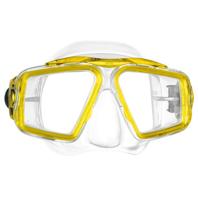 Mares Opera Dive Mask - Clear / Reflex Yellow - Mike's Dive Store