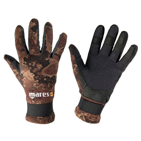 Mares Pure Instinct Amara 20 Camo Gloves - Brown - Mike's Dive Store