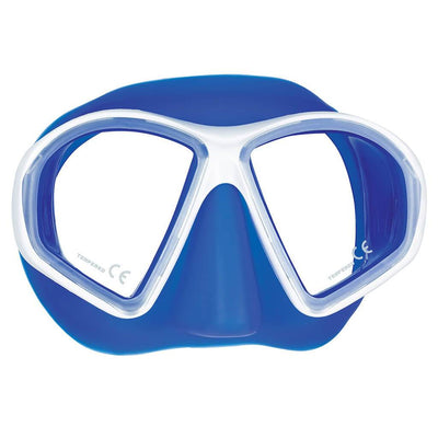 Mares Sealhouette Mask - White / Blue - Mike's Dive Store