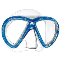 Mares X-Vu Dive Mask - Clear / Blue - Mike's Dive Store