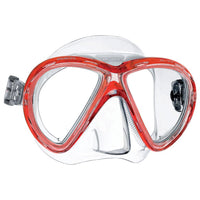 Mares X-Vu Dive Mask - Clear / Red - Mike's Dive Store