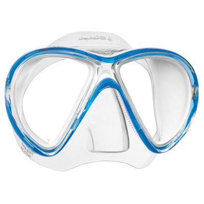 Mares X-Vu LiquidSkin Dive Mask - Blue / White - Mike's Dive Store
