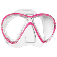 Mares X-Vu LiquidSkin Dive Mask - Pink / White - Mike's Dive Store